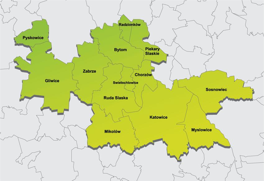 Mapa zasięgu usług Sileman